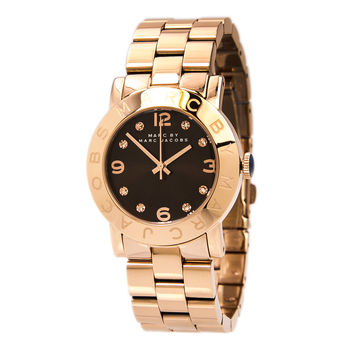 Marc by Marc Jacobs MBM3167 Women's Amy Brown Dial Rose Gold Tone Steel Bracelet Watch