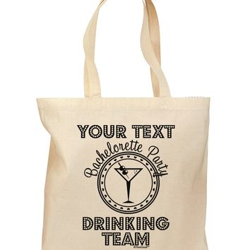 Personalized -Name- Bachelorette Party Drinking Team Grocery Tote Bag