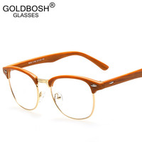 eyeglasses men brand optical frames women half rim clear lens eye glasses frames for women female vintage spectacle frame myopia