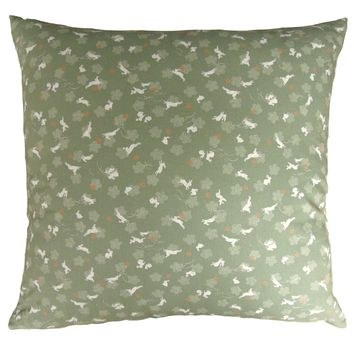 J-Life Haru Usagi Green Zabuton Floor Pillow