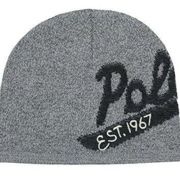 ONETOW Polo Ralph Lauren Men's Polo Wool Cap (One size, Grey/Charcoal)