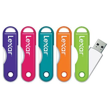 Lexar® JumpDrive® TwistTurn USB 2.0 Flash Drive, 32GB, Assorted Colors Item # 326201