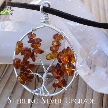 Sterling Silver Tree of Life - Sterling Silver Upgrade - Made to Order Tree of Life Pendants