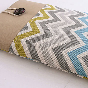 Chevron Macbook 11  Pocket Sleeve, Macbook Air/Pro Case, Padded 11 in Microsoft Surface.