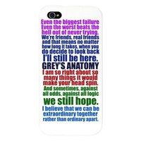 Grey's Anatomy Collage iPhone 5 Case by epiclove