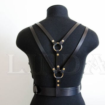 Harness, Leather Harness, Women Leather Harness, Leather body belt, harness women, body harness, Belt, harness lingerie, Body Belt, Fetish