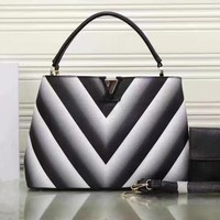 LV Women Shopping Leather Tote Crossbody Satchel Shoulder Bag-2