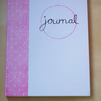 Handmade High Quality Journal: Pink & Spots A5