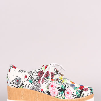 Lace Up Oxford Platform Wedge | UrbanOG
