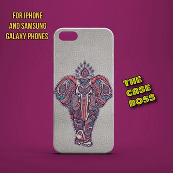 TRIBAL ELEPHANT MARCH Design Custom Phone Case for iPhone 6 6 Plus iPhone 5 5s 5c iphone 4 4s Samsung Galaxy S3 S4 S5 Note3 Note4 Fast!
