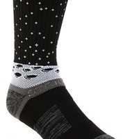 Men's STRIDELINE 'Man on the Moon' Socks - Black