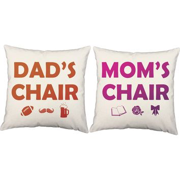 Parents Chairs Throw Pillows