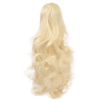 Fluffy Curled Hair Wig Claw Type Short   beige 039L-613#