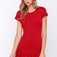 In the Pleat of the Moment Red Dress