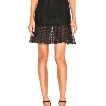 Alexander McQueen Mini Flute Skirt in Black | FWRD