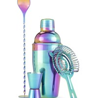 Iridescent Rainbow Barware Party Set