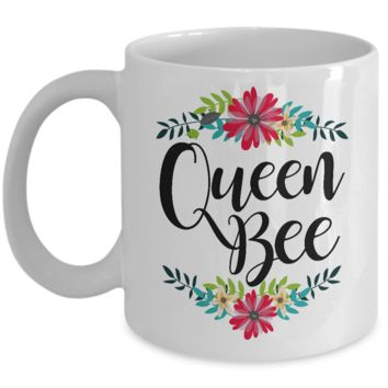 Queen Bee Coffee Mug - Great Mother's Day Gifts - Pretty Coffee Mugs
