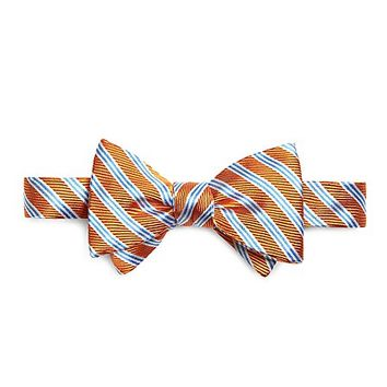 Satin and Twill Mini BB#1 Stripe Bow Tie - Brooks Brothers