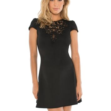 Darlene Lace Detail Skater Dress - DRESSES - Apparel | Sexy Clothes Womens Sexy Dresses Sexy Clubwear Sexy Swimwear | Flirt Catalog