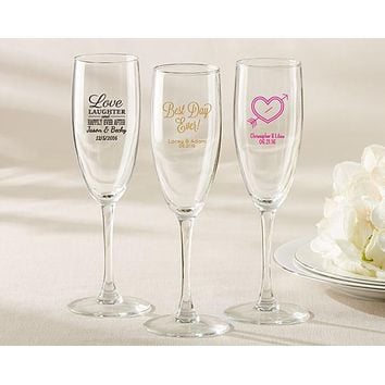 Personalized Champagne Flute - Wedding