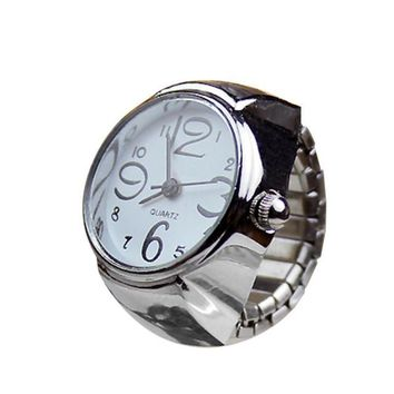 Quartz Creative Stainless Steel Finger Ring Watch