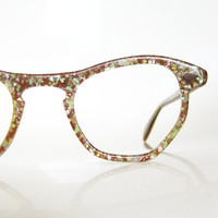 Vintage HOLOGRAPHIC Cat Eye Glasses NOS New Old Stock 1960s EYEGLASSES Indie Glitter 60s Rockabilly