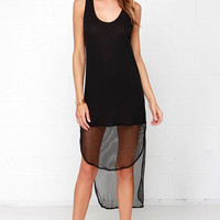 Active Duty Black High-Low Dress