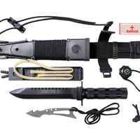 Deluxe Jungle Survival Kit Knife