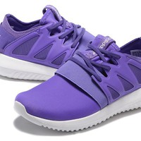 trending adidas women running sport casual shoes sneakers purple