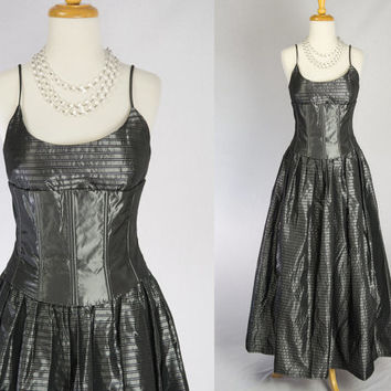 Vintage DARK PRINCESS Corset Prom Dress Gothic