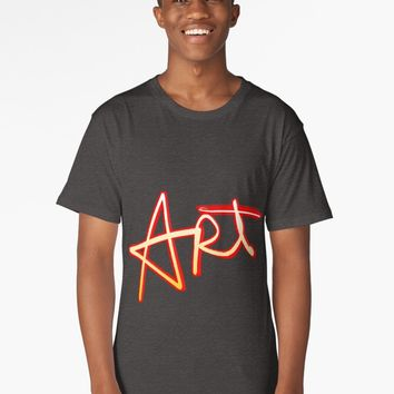 "'""Art"" hand drawn lettering' Long T-Shirt by BillOwenArt"