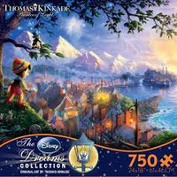 Thomas Kinkade Disney Collection - Pinocchio Wishes Upon a Star Puzzle