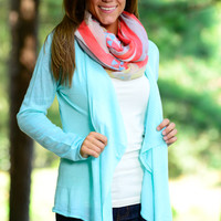 Simply Solid Cardigan, Mint