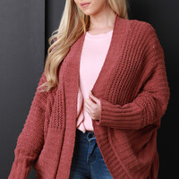 Soft Cable Sweater Knit Open Front Cardigan | UrbanOG