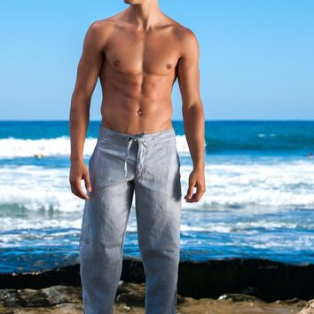 Sauvage Activewear Grey Linen Pants
