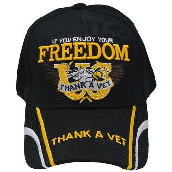 US Veterans Hat - If You Enjoy Your Freedom, Thank a Vet - Baseball Cap