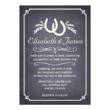 Country Horseshoe Wedding Invitations