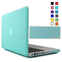 New Matte Case New Air 11 Air 13 Pro 13 Pro 15 New Retina 12 13 15 for macbook Keyboard Cover + Screen Protector  Free Shipping