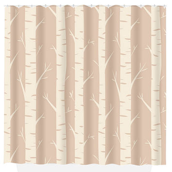 WOODLAND SHOWER Curtain Birch Tree Forest Bathroom Custom MONOGRAM Personalized Decor Bath Beach Towel Plush