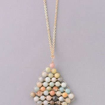Cheyenne Semi-Precious Natural Stone Necklace