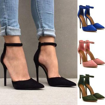 807c4f884ed9 Fashion Shallow Mouth Pointed-toe Sandals Heels Shoes