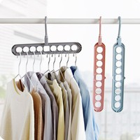 Multi-storey Indoor Coat Hanger Pylons Plastic Wardrobe Household Balcony Clothes Hanger Storage Hanging Hook Collation Frame