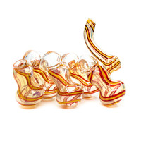 Heavy Five Chamber Glass Bubbler Pipe - Handblown - Assorted Colors