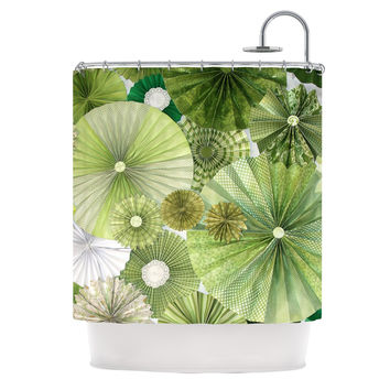 "Heidi Jennings ""Green Thumb"" Lime Shower Curtain"