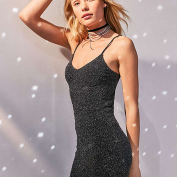 Silence + Noise Bandeau Back Bodycon Shimmer Dress - Urban Outfitters