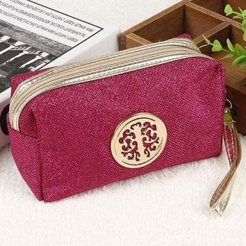 High quality Large Capacity Travel Make up Bag Portable Cosmetic Bag Purse Pouch Sac a Main Brand Make Up Pouch In 2017-1