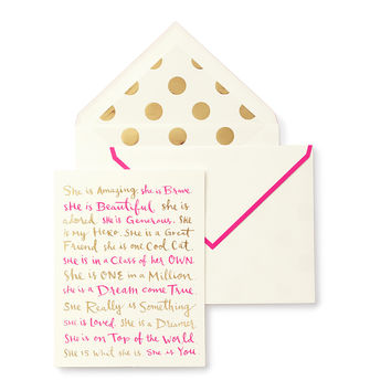 kate spade new york greeting card - she is ...