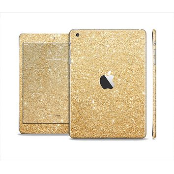 The Gold Glitter Ultra Metallic Skin Set for the Apple iPad Mini 4