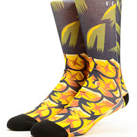 Neff Pineapple Volt Crew Socks
