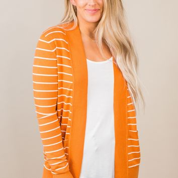 Better Keep Up Striped Cardigan- Multiple Options